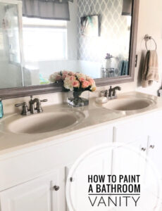 how to paint a bathroom cabinet