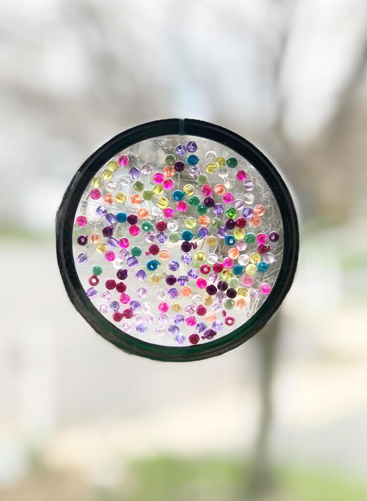 beautiful DIY mason jar ring suncatcher