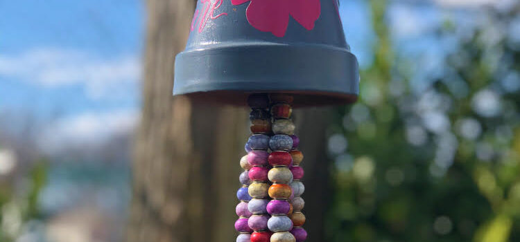 DIY Flower Pot Beaded Wind Chimes