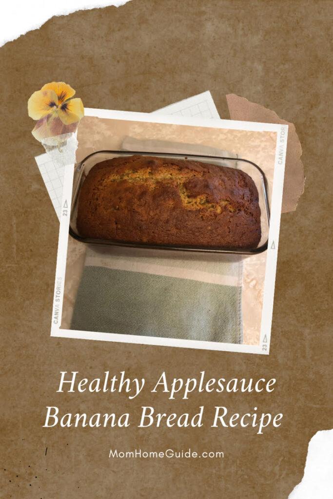 healthy applesauce banana bread