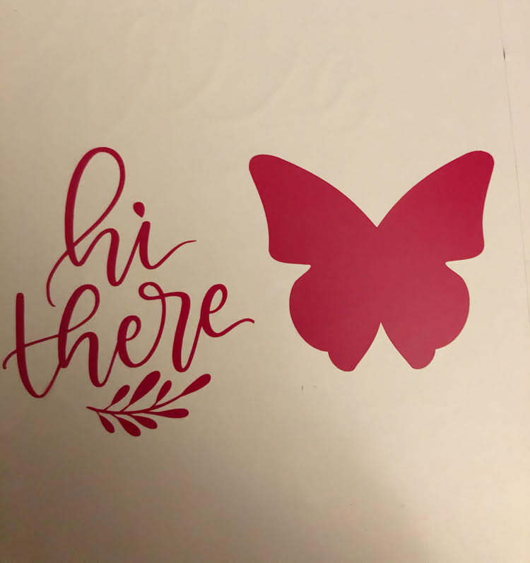 cute vinyl decals made with a Silhouette Cameo