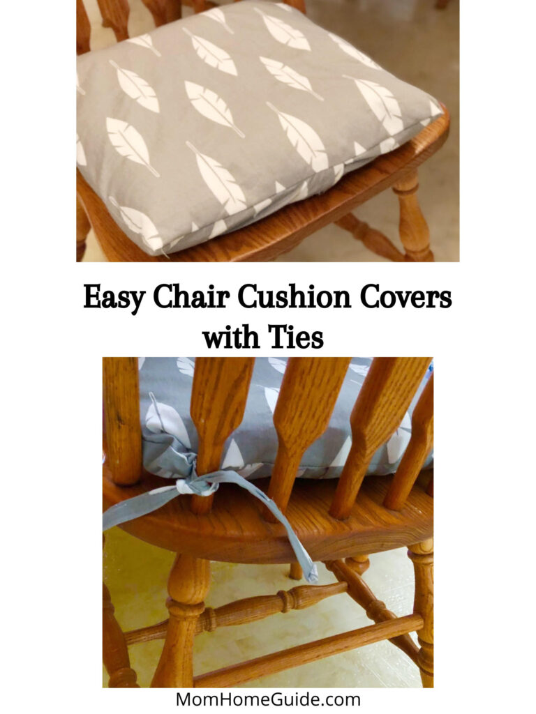 how to make DIY cusion covers with ties
