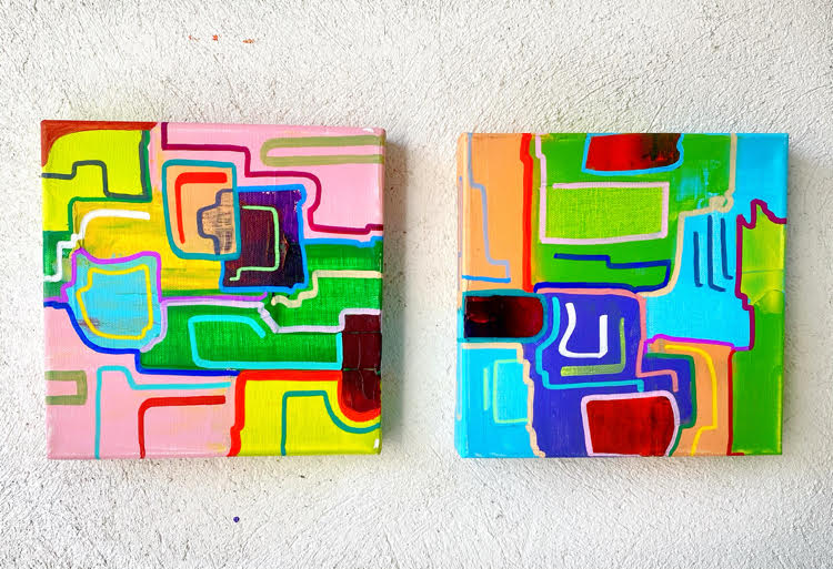 pair of contemporary paintings by Sir13