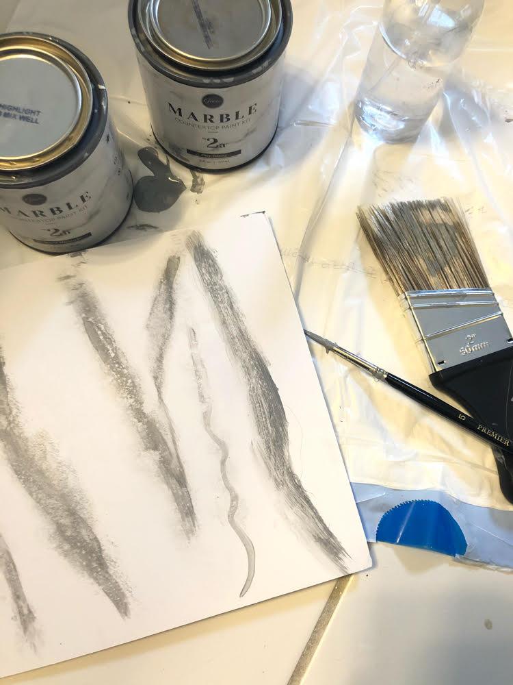practice painting marble veins