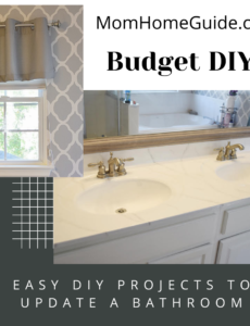 easy DIY projects for updating a bathroom
