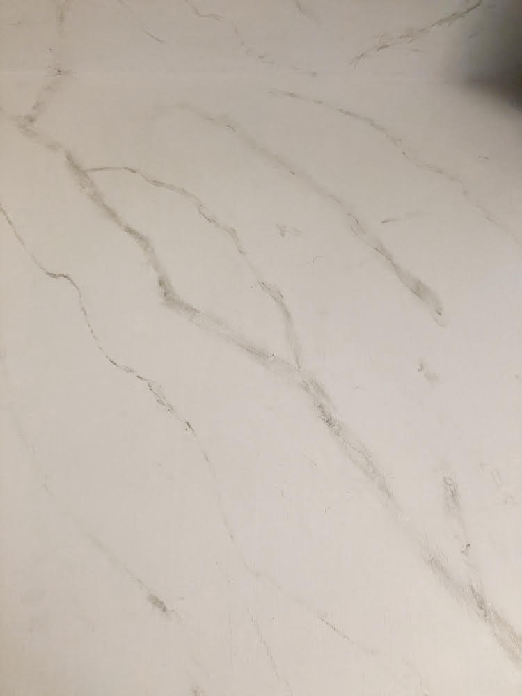 DIY painted marble counters