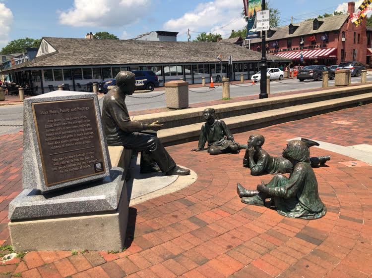 Alex Hayley memorial in Annapolis, Maryland