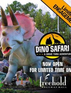 large dinosaur at Dino Safari at Freehold Raceway Mall