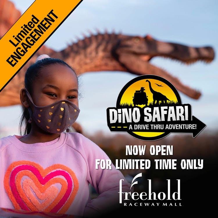 girl at Dino Safari at Freehold Raceway Mall