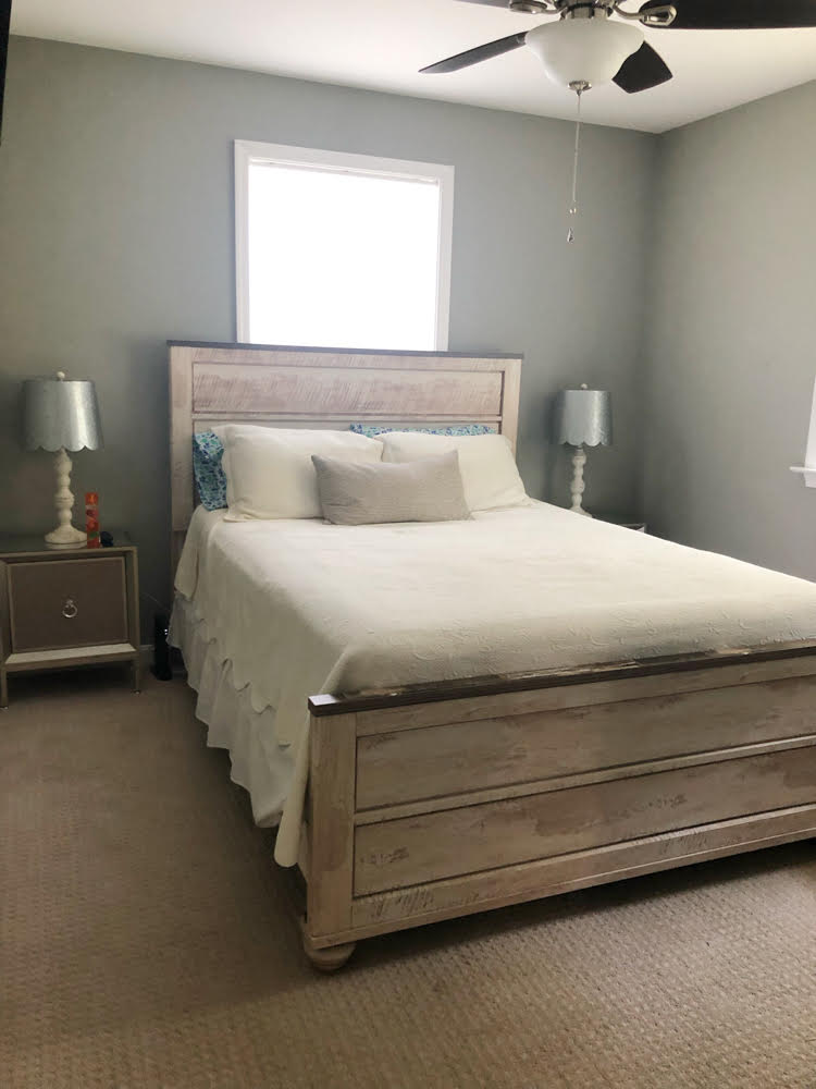 an Annapolis Airbnb bedroom with a queen sized bed