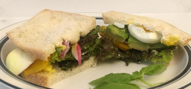 Roasted Beet, Herbed Cheese & Avocado Sandwich