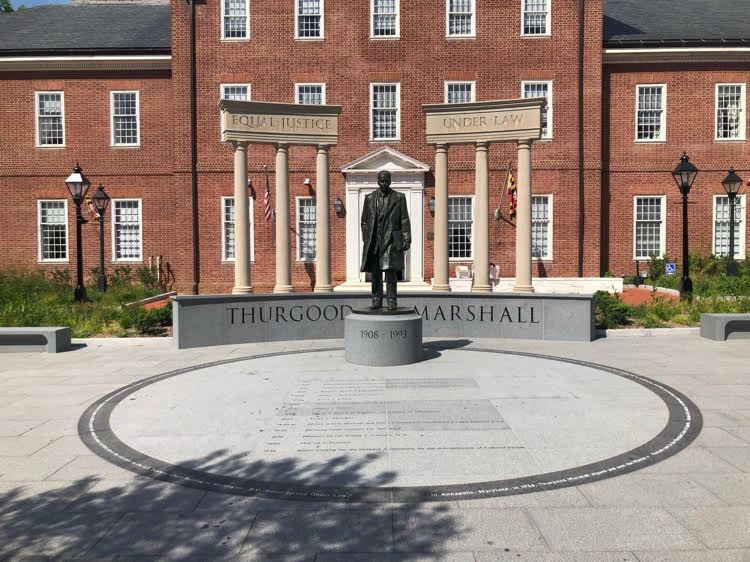 The Thurgood Marshall memorial at the Maryland State House