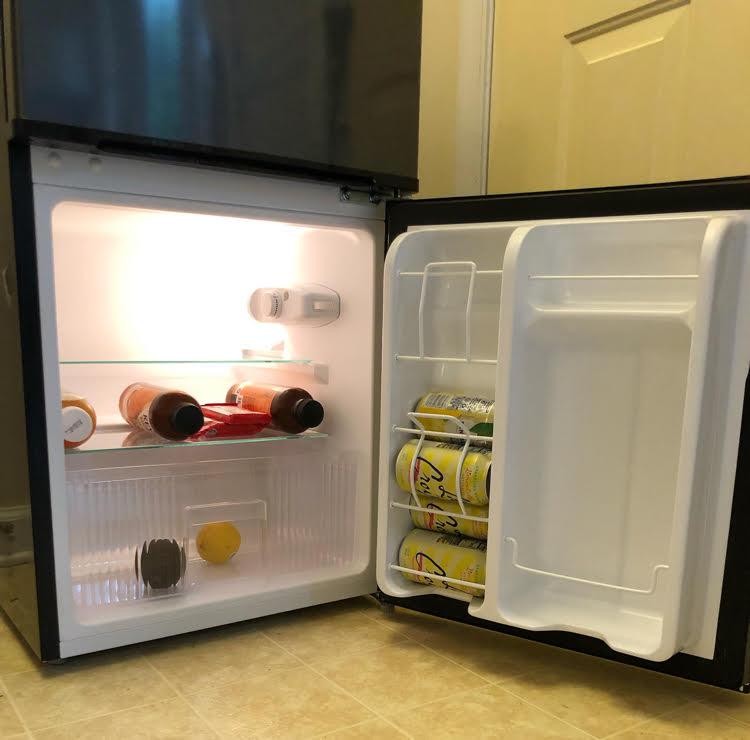 interior of spacious compact NewAir refrigerator