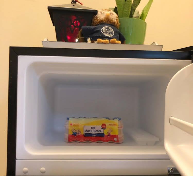 spacious freezer of NewAir compact refrigerator