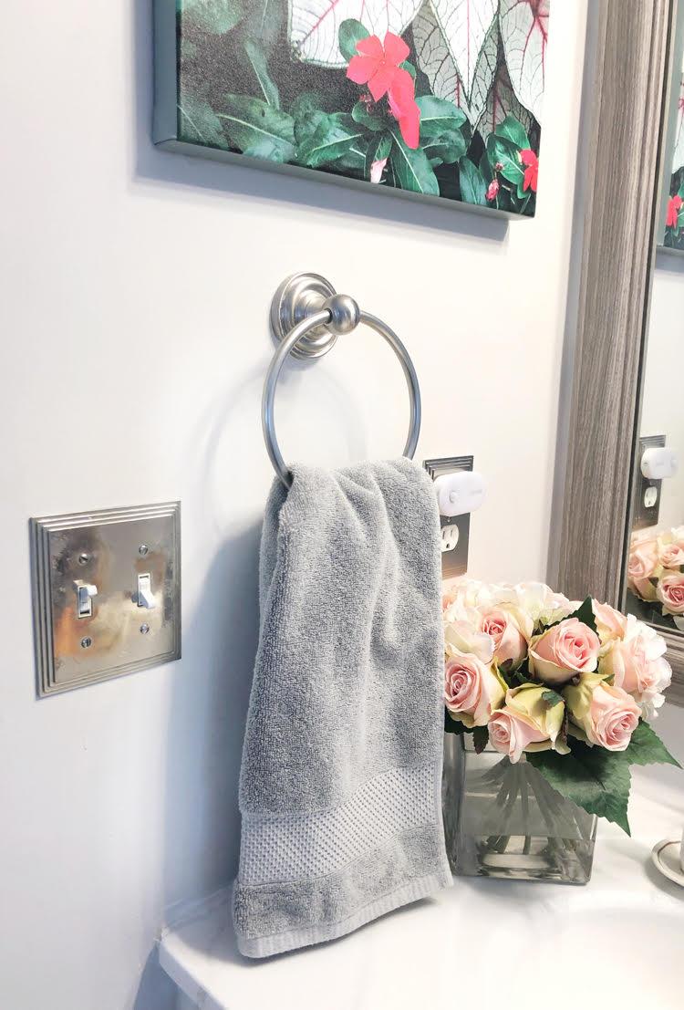 therapedic gray luxury hand towel
