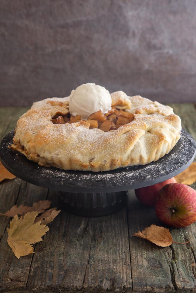 I love this recipe for a delicious caramel apple galette!